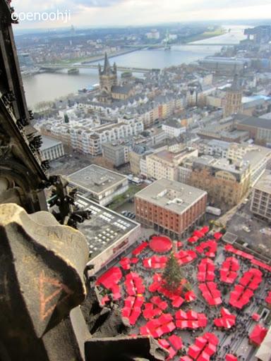 ケルン大聖堂の上から見た景色