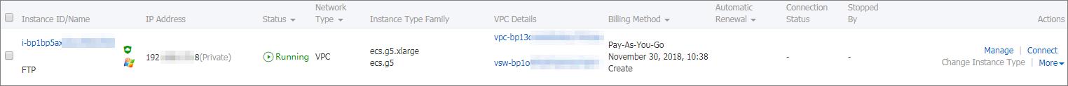 EIP を使用した FTP サーバーのデプロイ