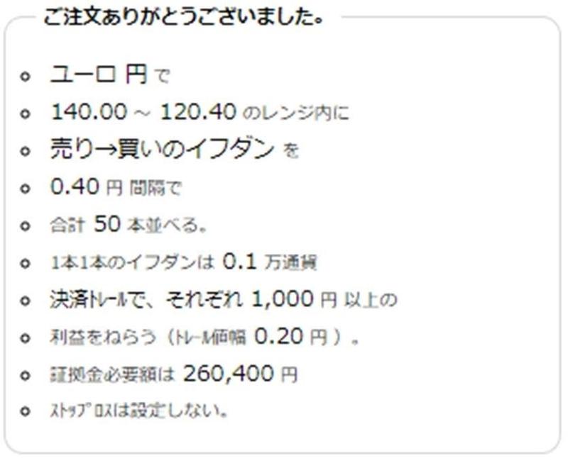 ココの売りから買いトラリピCAD/JPYの注文履歴