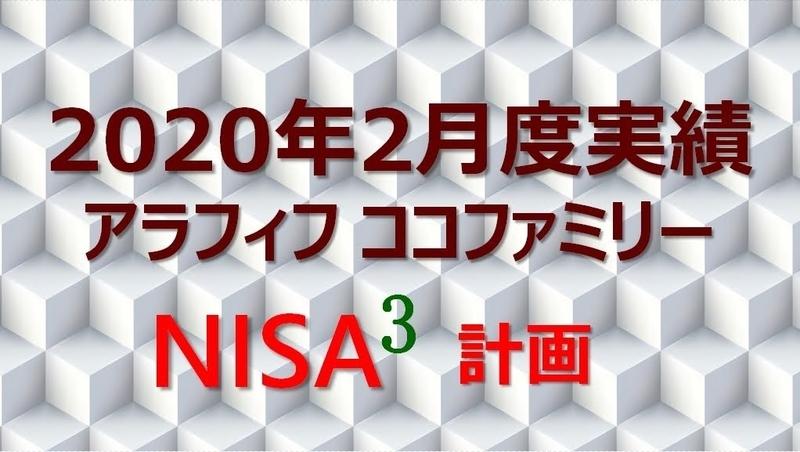ココブロ楽天証券のNISA 2020年2月度実績