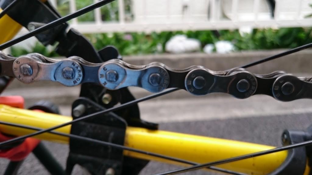 チェーン掃除後のクロスバイク
