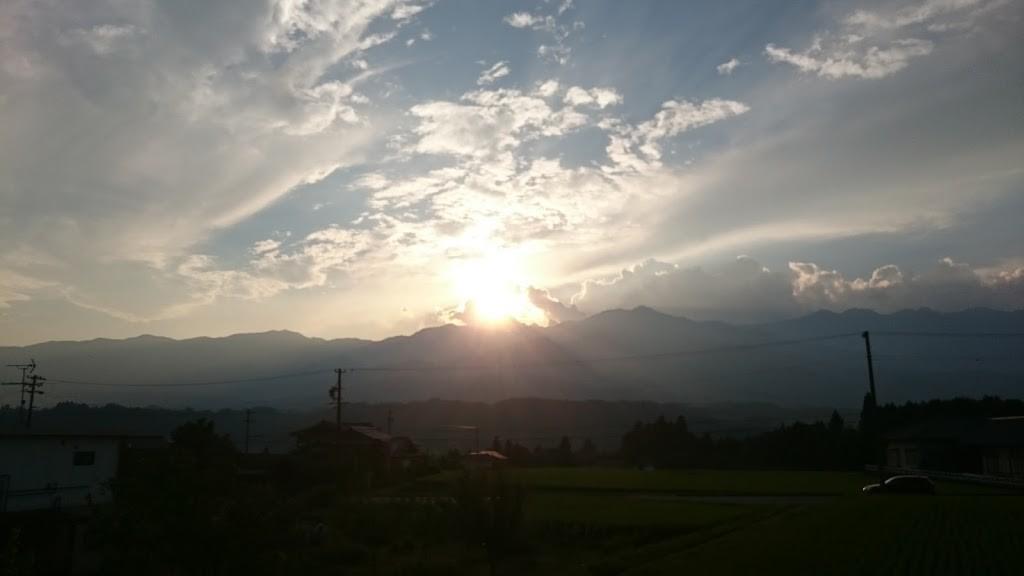 長野の夕日の写真