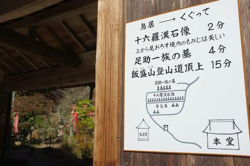 飯盛山への案内図