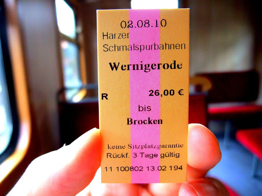 ハルツ鉄道のチケット