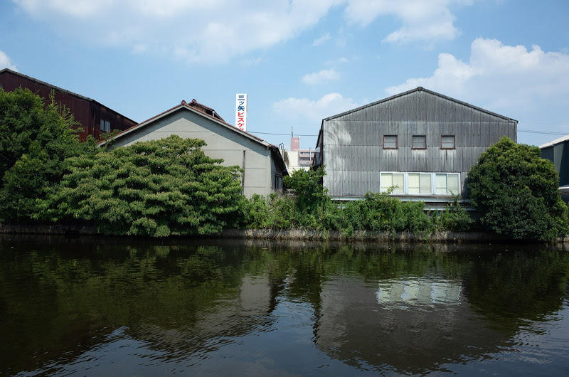 180716 中川運河から見る倉庫群
