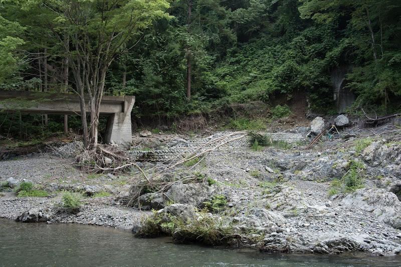 浅内第1トンネル出口の落橋