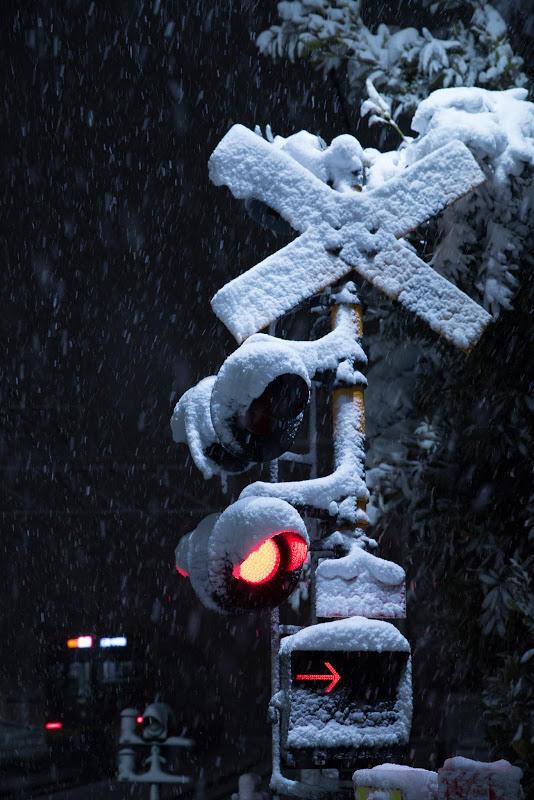 180122 雪の着いた踏切
