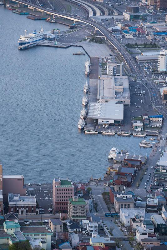 170506 函館山山頂から八幡坂を俯瞰