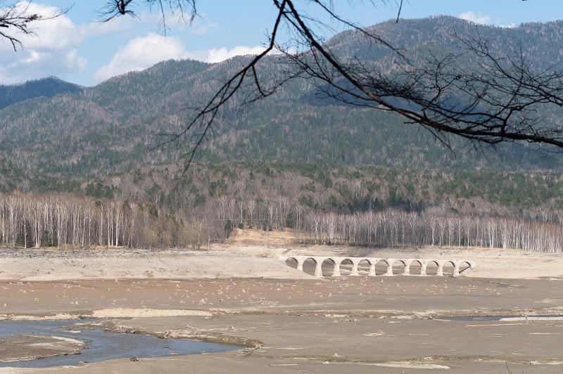 190503 展望台から見たタウシュベツ川橋梁