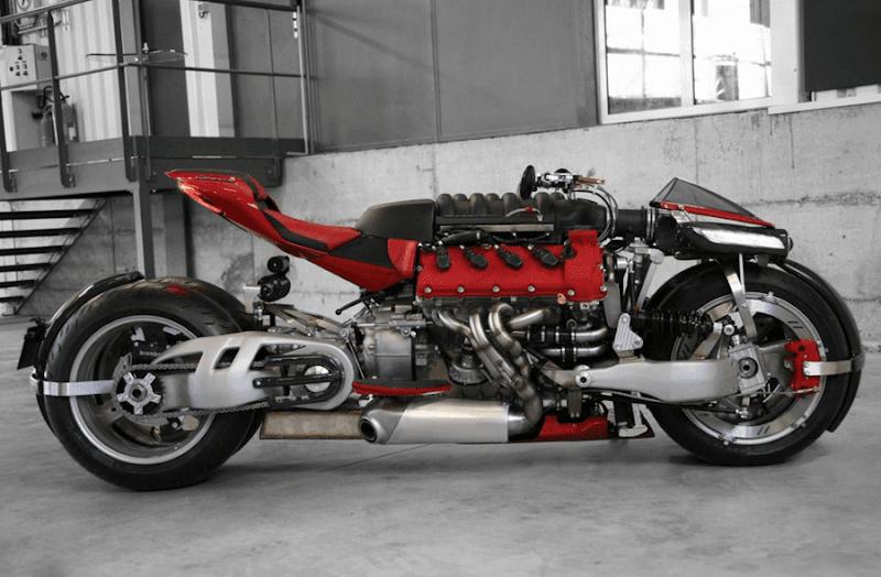★マセラティエンジンを搭載したカスタムバイク?Lazareth LM 847
