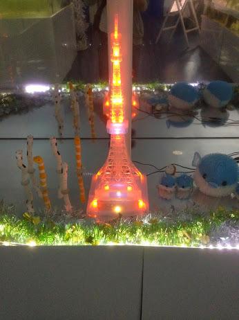 水族館内のオブジェ