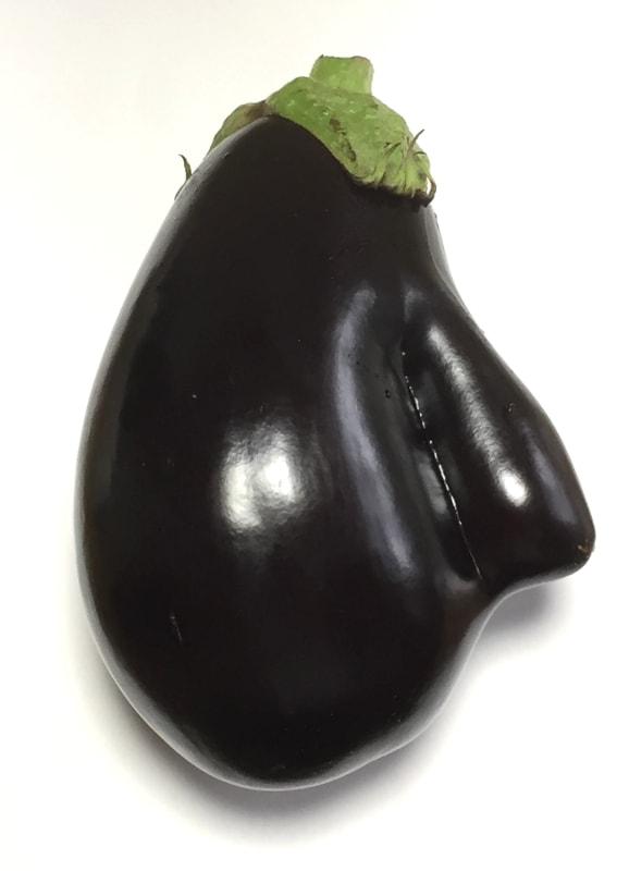 おもしろい茄子の画像