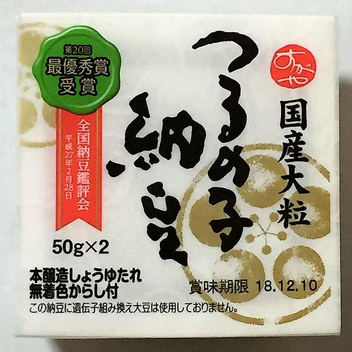 菅谷食品「国産大粒 つるの子納豆」