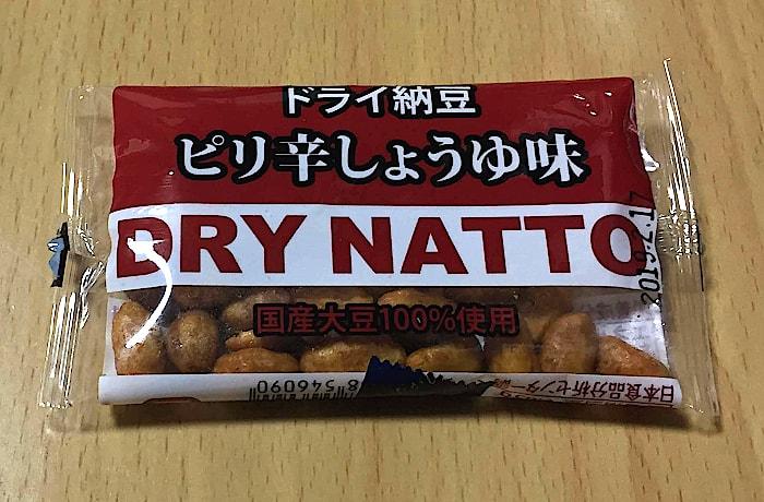 長島食品の「どらい納豆 ピリ辛しょうゆ味」