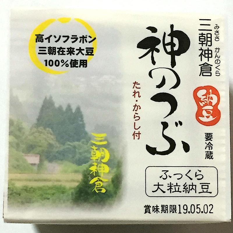 JA鳥取中央「三朝神倉納豆 神のつぶ」