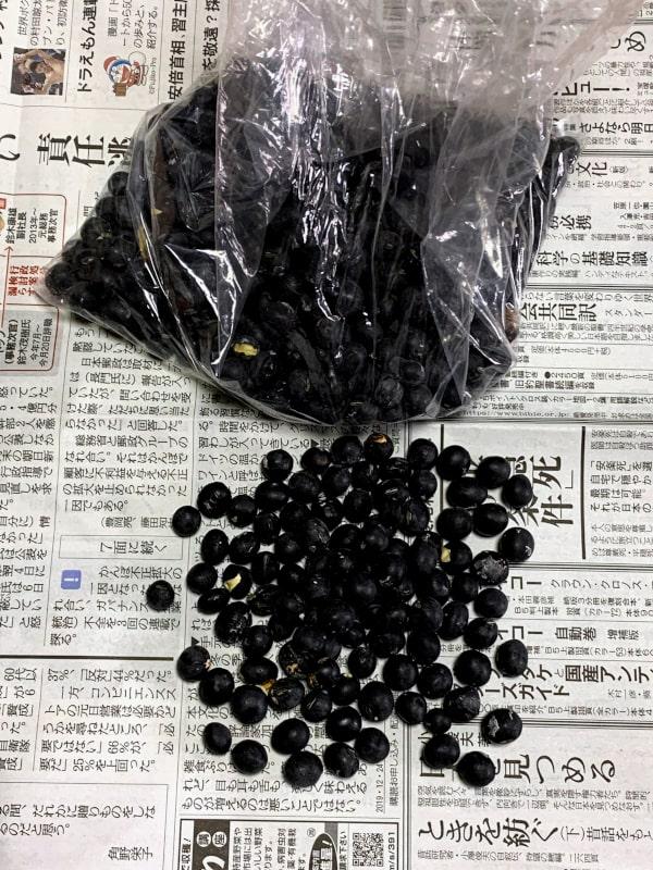 自家製の黒豆の画像