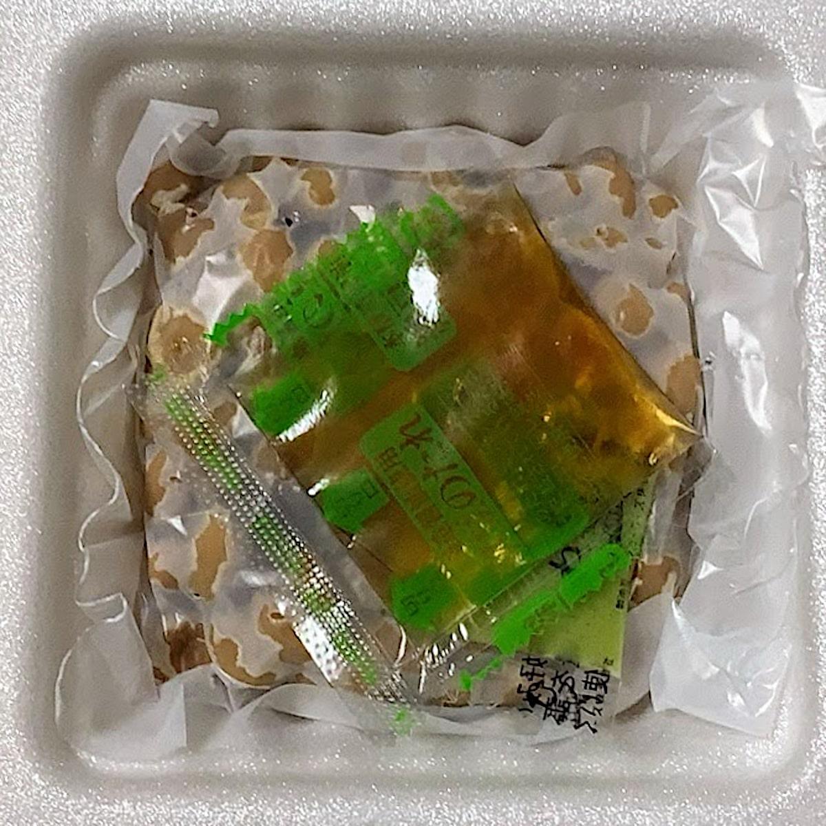 「元気納豆 国産大豆わさび」の容器の中の画像