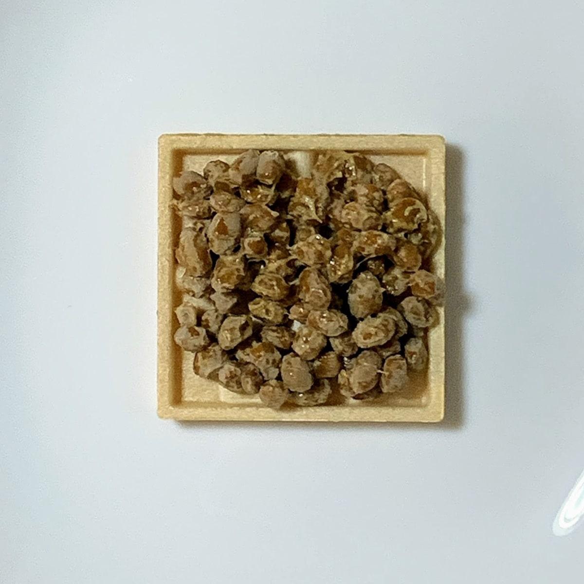 「もなか納豆」の餡の納豆の画像
