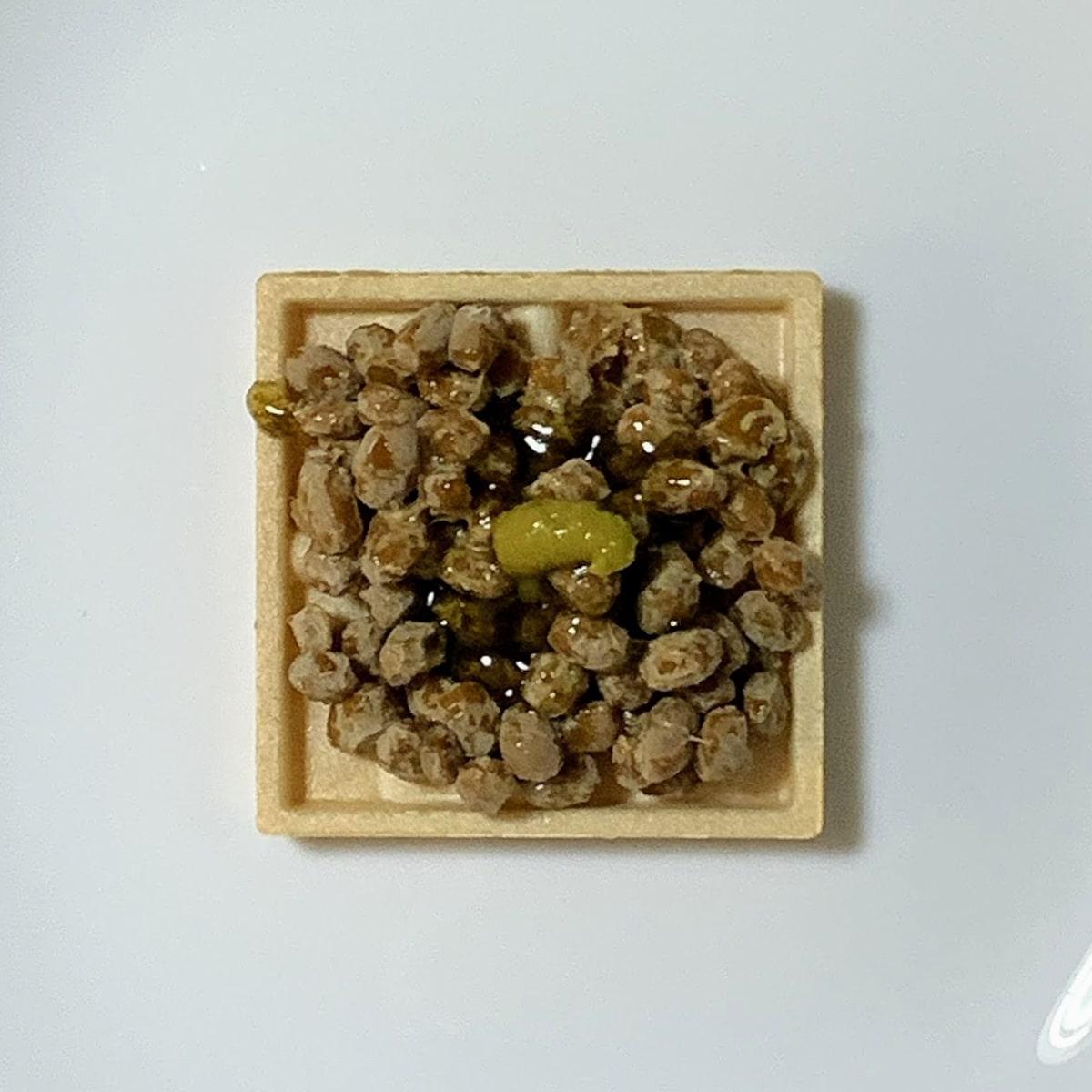 「もなか納豆」にわさびも入れた画像