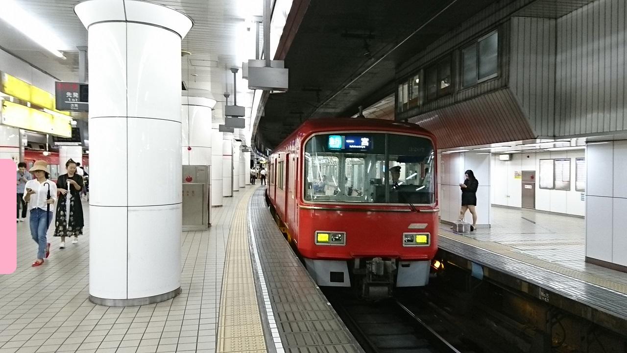 2017.8.15 柳橋 (1) 名古屋 - 一宮いき急行 1280-720