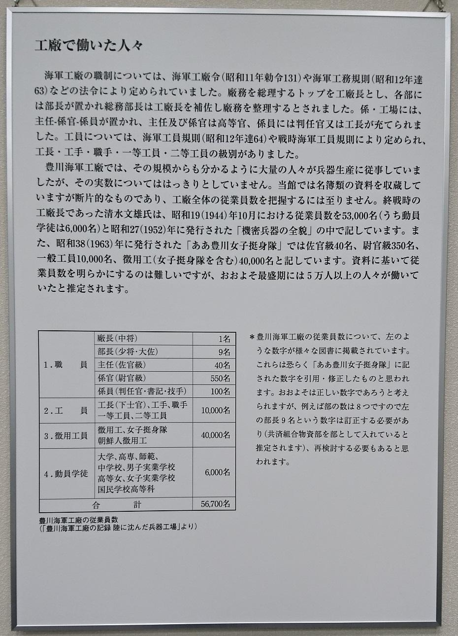 2017.8.30 豊川海軍工廠展 (12) 工廠ではたらいたひとびと 930-1290