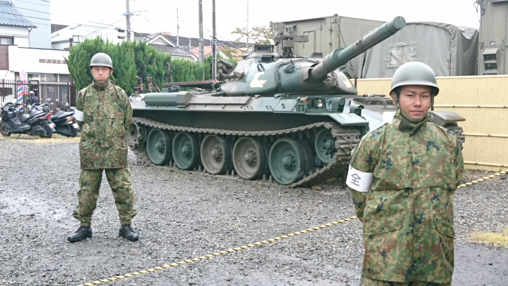 2017.10.28 守山駐屯地 (3) 74式戦車 1920-1080