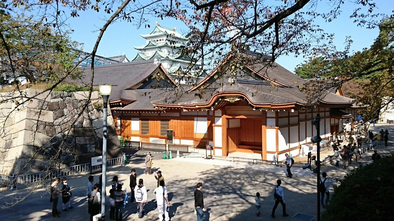 2017.11.3 名古屋城 (5) 本丸御殿と天守閣 1280-720