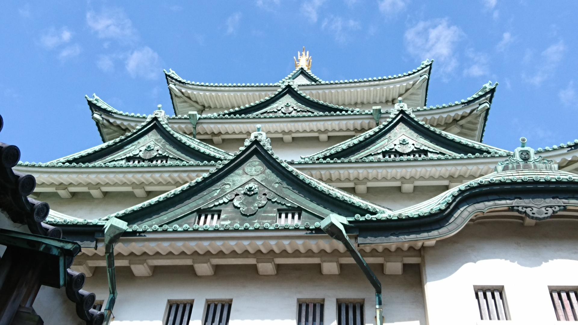 2017.11.3 名古屋城 (12) 天守閣(みなみから) 1920-1080