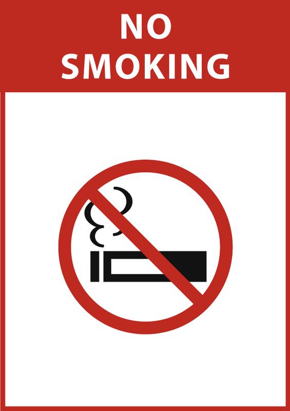 禁煙 (縦長) 英語