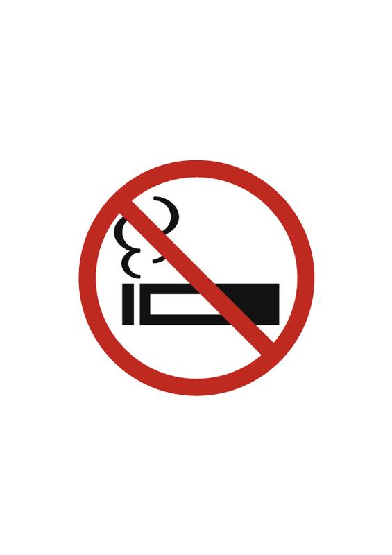 禁煙 (縦長) 文字なし
