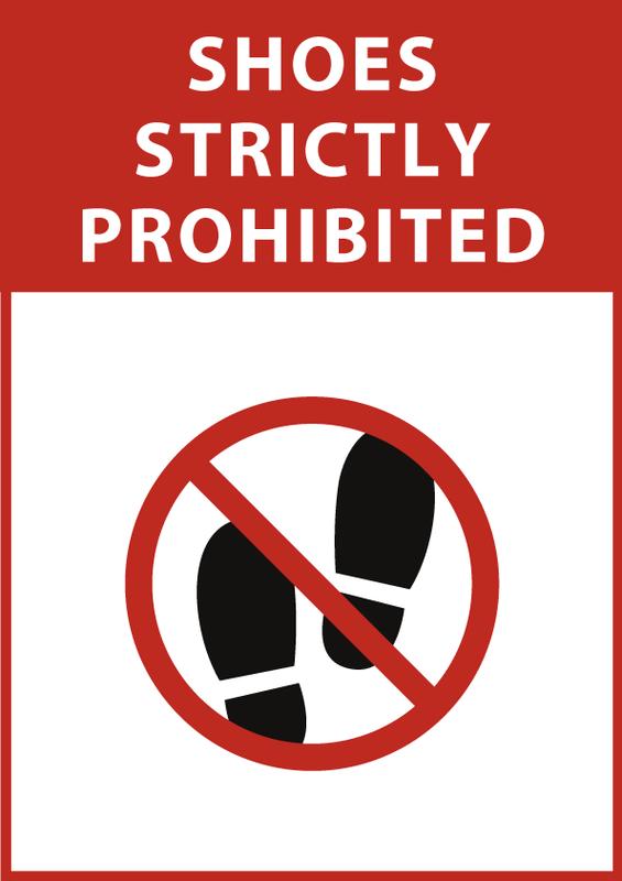 土足禁止 英語