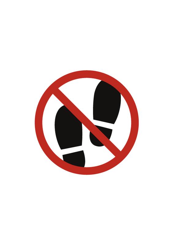 土足禁止 文字なし