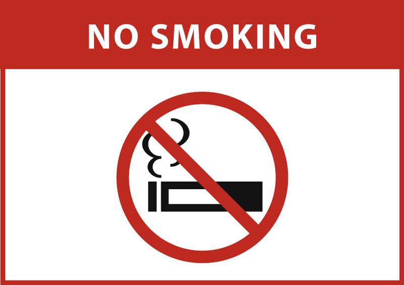 禁煙 (横長) 英語