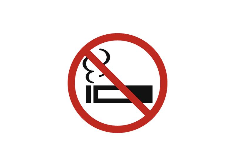 禁煙 (横長) 文字なし