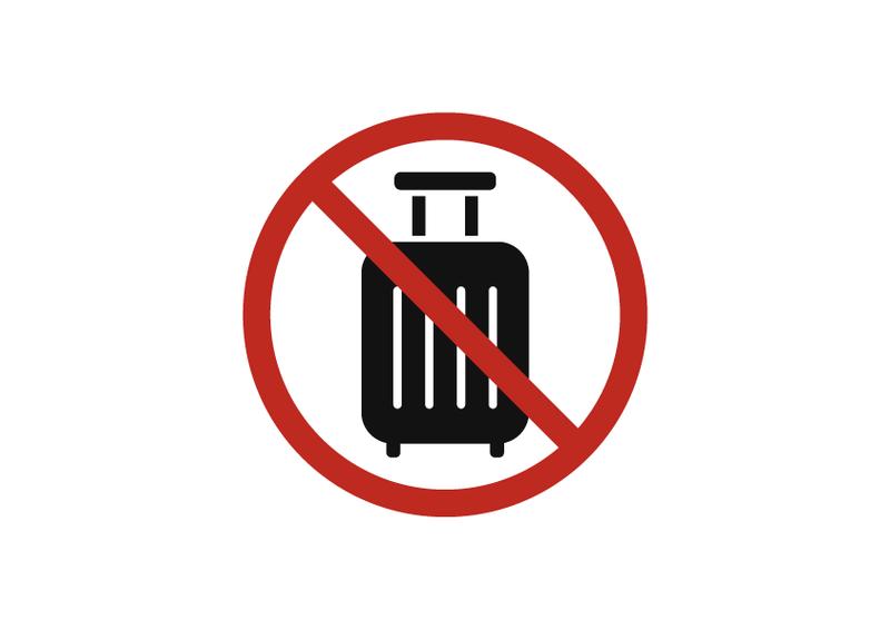 スーツケース廃棄禁止 文字なし