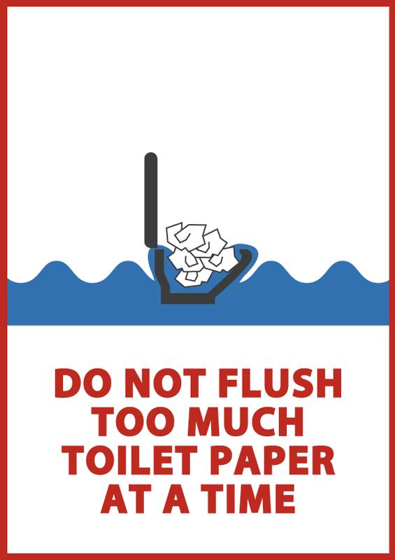 トイレの使い方 《一度に流しすぎない》 英語