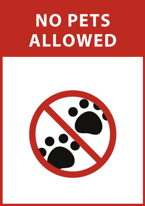 ペット禁止 英語