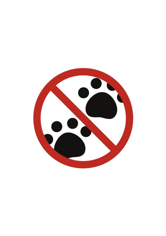 ペット禁止 文字なし